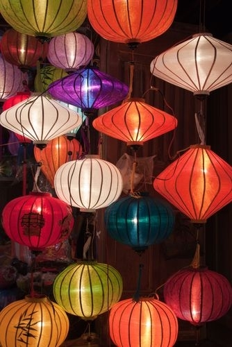 One Of The Numerous Colorful Paper Lantern Shops In Hoi An, Vietnam In Outdoor Vietnamese Lanterns (#4 of 15)