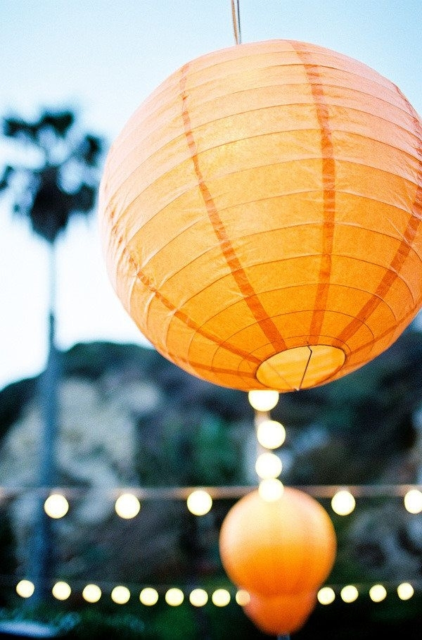 Orange Lanterns – Outdoor Lounge – Beach Ceremony At The Sunset Intended For Outdoor Orange Lanterns (#14 of 15)