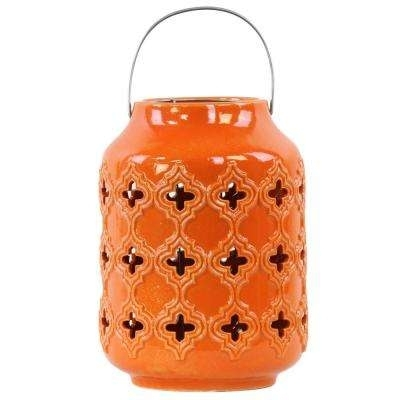 Orange – Outdoor Lanterns – Outdoor Torches – The Home Depot Intended For Outdoor Orange Lanterns (View 6 of 15)