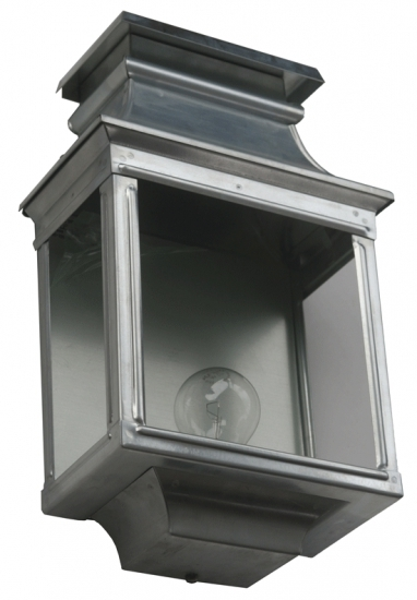 Original French Outdoor Half Lantern Louis Philippe 1 – Terra Lumi In Zinc Outdoor Lanterns (#5 of 15)
