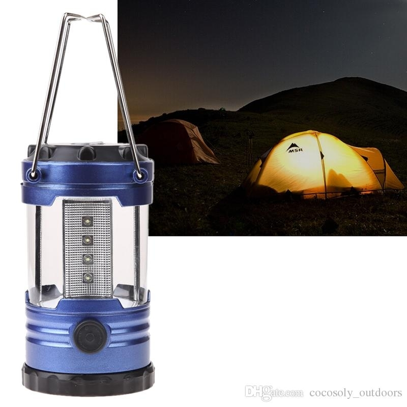 Outdoor Camping Lantern Flashlights Lamp With Compass Portable Tent Throughout Outdoor Plastic Lanterns (#7 of 15)