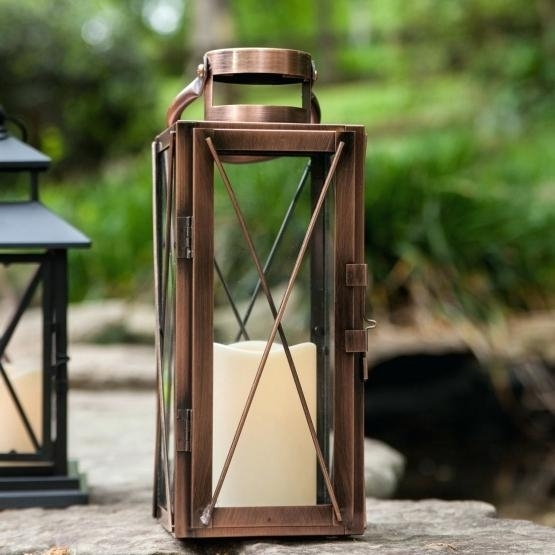 Outdoor Candle Lanterns Amazon For Porch Patio Uk – Omn2014 Throughout Outdoor Candle Lanterns For Patio (View 11 of 15)