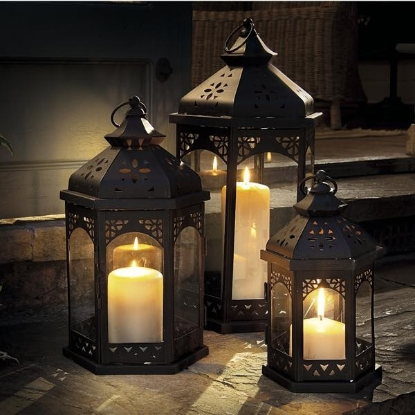 Outdoor Candles Lanterns And Lighting – Outdoor Lighting Ideas For Outdoor Vintage Lanterns (View 9 of 15)