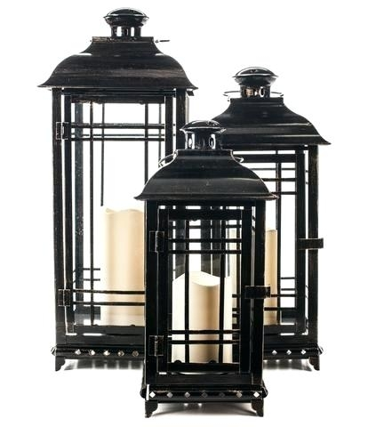 Outdoor Candles With Timer All Weather Metal Candle Lantern Outdoor Within Metal Outdoor Lanterns (View 10 of 15)