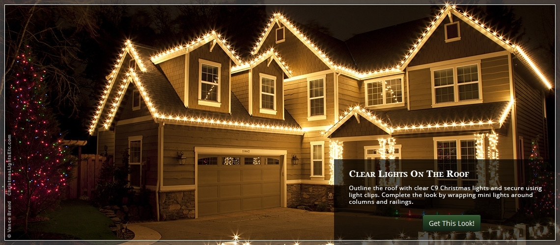 Outdoor Christmas Lights Ideas For The Roof Pertaining To Outdoor Lanterns For Christmas (View 10 of 15)