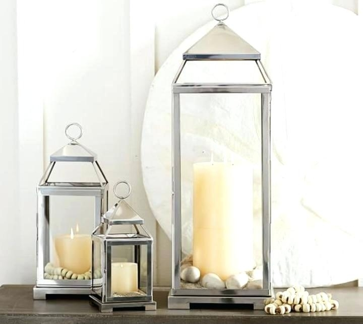 Outdoor Decorating Ideas Lanterns Pottery Barn Malta Lantern Silver With Regard To Silver Outdoor Lanterns (#9 of 15)