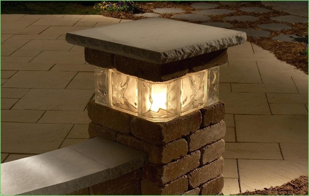 Outdoor Driveway Post Lights Lighting Outdoor Pillar Lights Patio For Outdoor Pillar Lanterns (#9 of 15)
