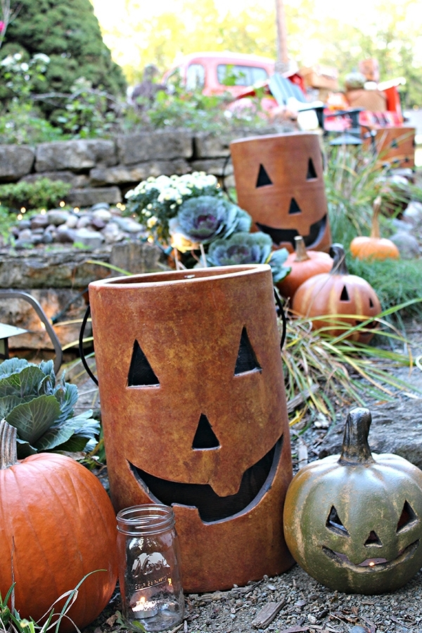 Outdoor Fall Harvest Party Ideas With A Classic Style Intended For Outdoor Pumpkin Lanterns (View 12 of 15)
