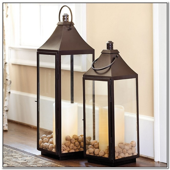 Outdoor Floor Candle Lanterns – Image Antique And Candle With Extra Large Outdoor Lanterns (#14 of 15)