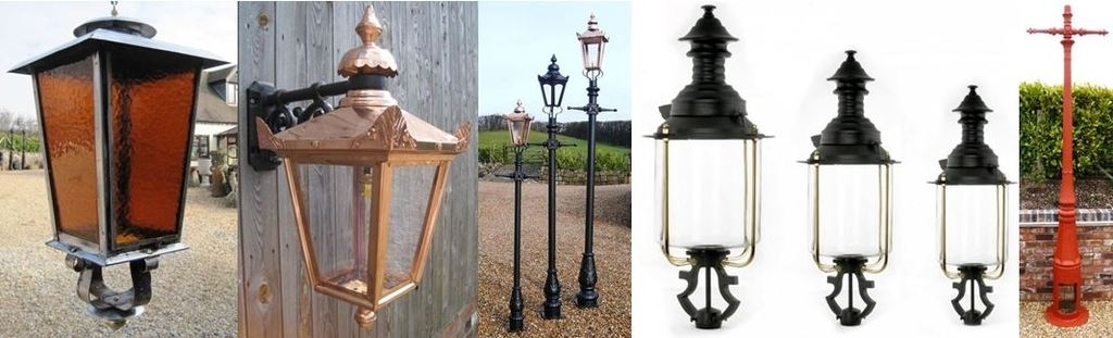 Outdoor Garden Exterior Lighting Lanterns And Lamp Posts Pertaining To Outdoor Cast Iron Lanterns (View 2 of 15)