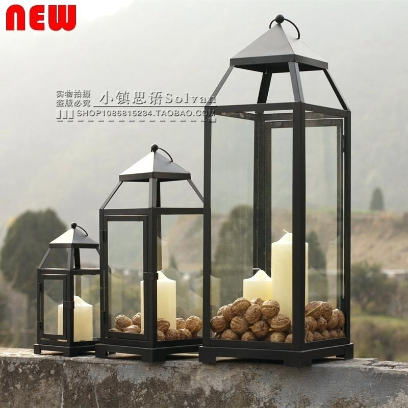 Outdoor Hurricane Lamps Large Outdoor Hurricane Lantern Designs Throughout Outdoor Hurricane Lanterns (View 6 of 15)