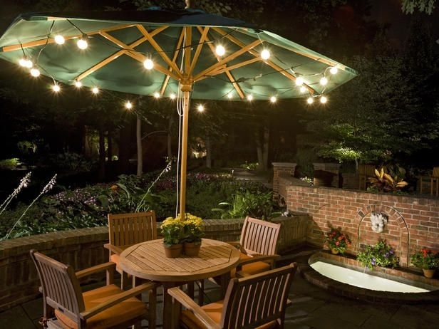 Popular Photo of Outdoor Umbrella Lanterns