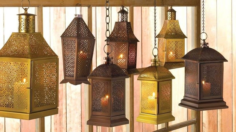Outdoor Lantern Decor, Peregrine Large Metal Decorative Floor Throughout Metal Outdoor Lanterns (View 14 of 15)
