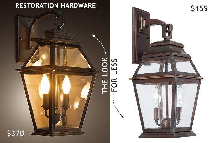 Outdoor Lantern Wall Sconce Restoration Hardware Outdoor Sconce Intended For Outdoor Lanterns And Sconces (View 5 of 15)