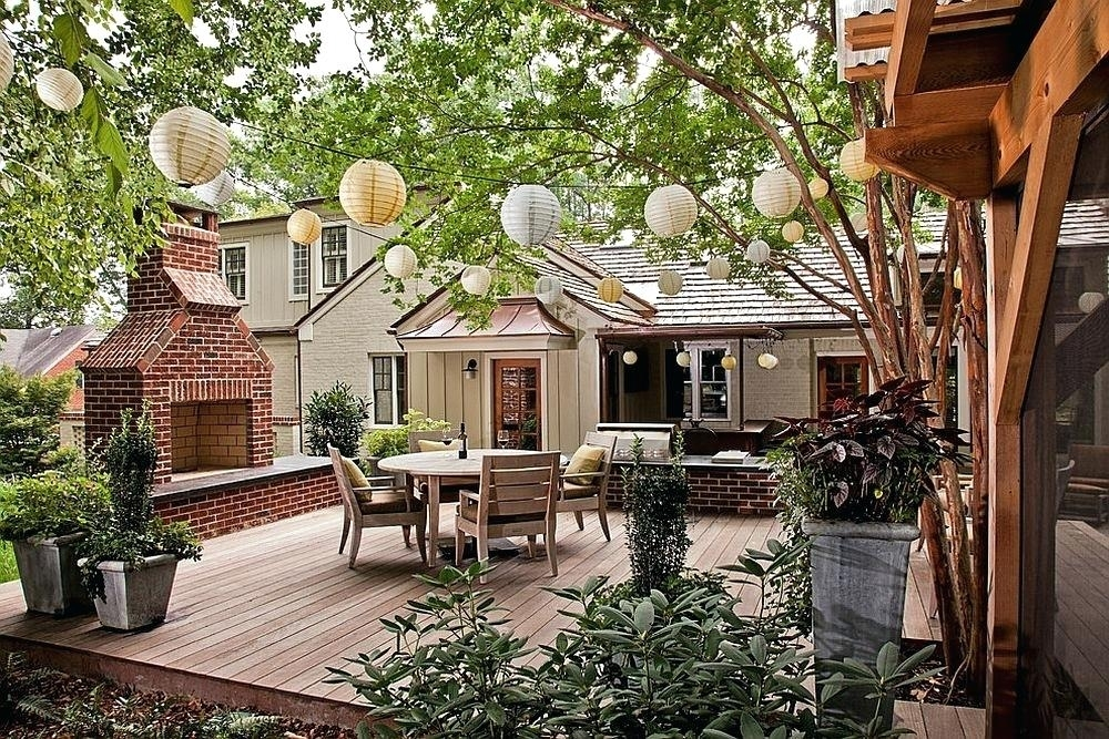 Outdoor Lanterns For Patio A Lineup Of Paper Lanterns Does Add Throughout Outdoor Paper Lanterns For Patio (#9 of 15)