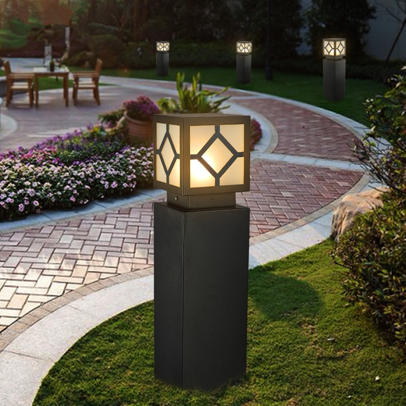 Outdoor Lawn Lamp Led Waterproof Lamp Column Lamp Quare Led Lights Pertaining To Outdoor Lawn Lanterns (View 2 of 15)