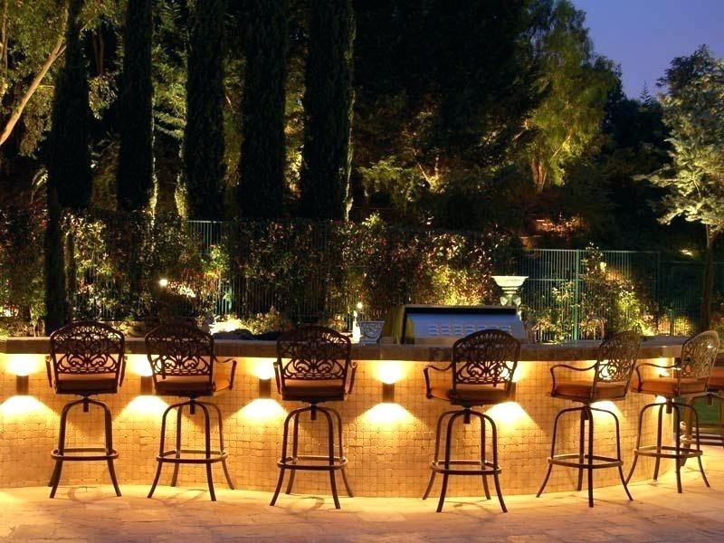 Outdoor Lighting Backyard Upscale Outdoor Seating Bench Lit For Outdoor Yard Lanterns (#6 of 15)