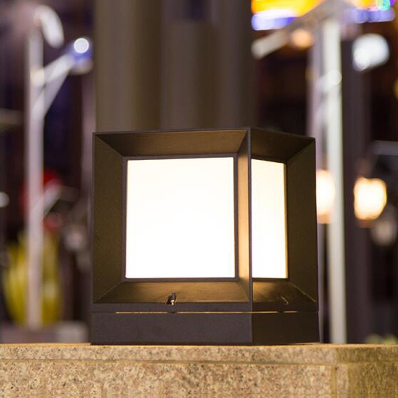 Outdoor Lights For Fence Aluminum Waterproof Outdoor Pillar Lamp Inside Outdoor Lanterns For Pillars (View 10 of 15)