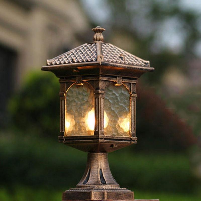Outdoor Lights On Pillars Lovely Inspirational Unique Column Light Pertaining To Outdoor Lanterns For Pillars (#12 of 15)