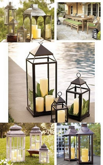 Outdoor Living ~ Lanterns | Houses And Accessories | Pinterest For Outdoor Candle Lanterns For Patio (View 7 of 15)
