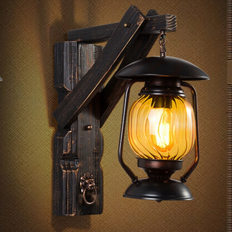 Outdoor Wall Lantern Lamps, Aliexpresscom : Buy Creative Vintage For Outdoor Vintage Lanterns (View 12 of 15)