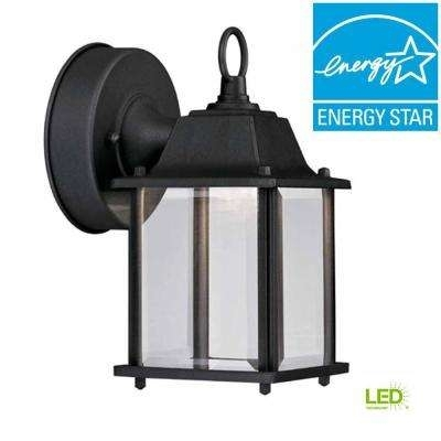 Outdoor Wall Mounted Lighting – Outdoor Lighting – The Home Depot Inside Large Outdoor Electric Lanterns (View 9 of 15)