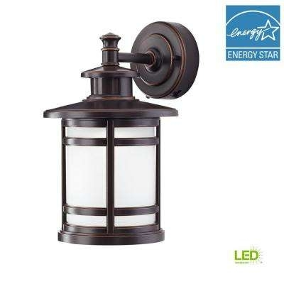 Outdoor Wall Mounted Lighting – Outdoor Lighting – The Home Depot Pertaining To Outdoor Lanterns With Led Lights (View 6 of 15)