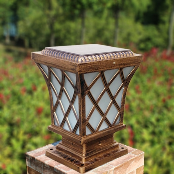 Outdoors Solar Sensor Wall Lighting,compound Wall Lights Outdoor For Outdoor Pillar Lanterns (#10 of 15)