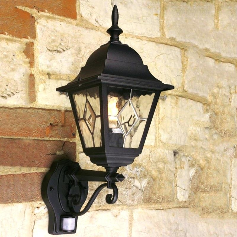 Outside Sensor Lights Outdoor Lantern Wall Light With Sensor In Outdoor Lanterns At Argos (View 10 of 15)