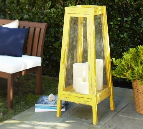 Oversized Yellow Lantern | Pottery Barn | Lanterns | Pinterest Inside Outdoor Oversized Lanterns (View 8 of 15)
