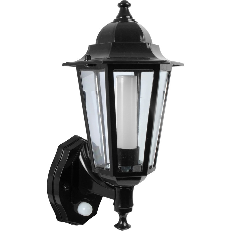 Inspiration about P Lux 8W Led Photocell & Pir Coach Lantern Black With Outdoor Lanterns With Photocell (#2 of 15)
