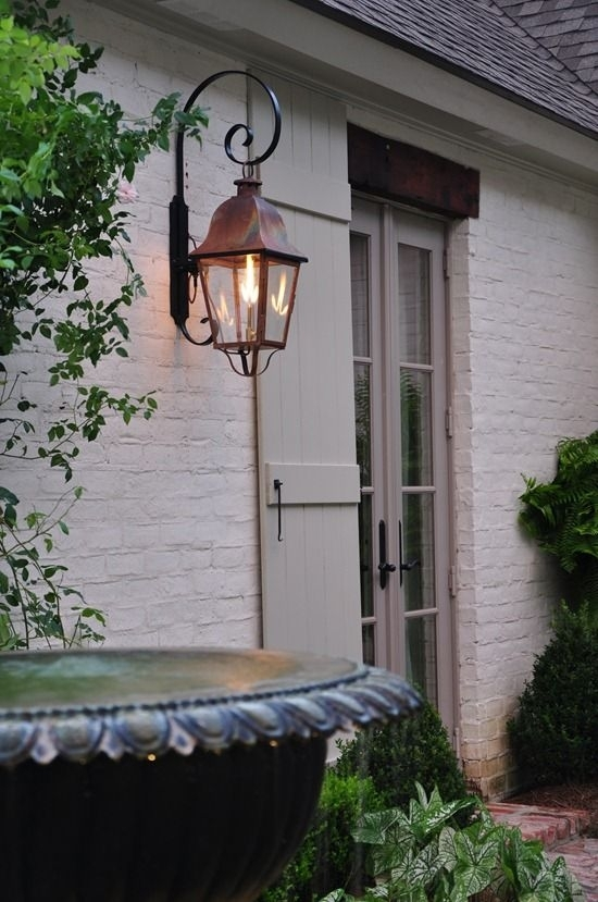 Inspiration about Painted Brick, Bevelo Lantern, & French Door..yum | Outdoor Living For Outdoor House Lanterns (#3 of 15)