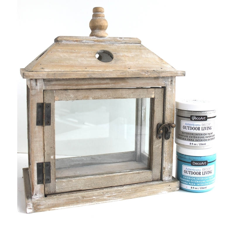 Inspiration about Painted Outdoor Terrarium | Joann Intended For Joanns Outdoor Lanterns (#2 of 15)