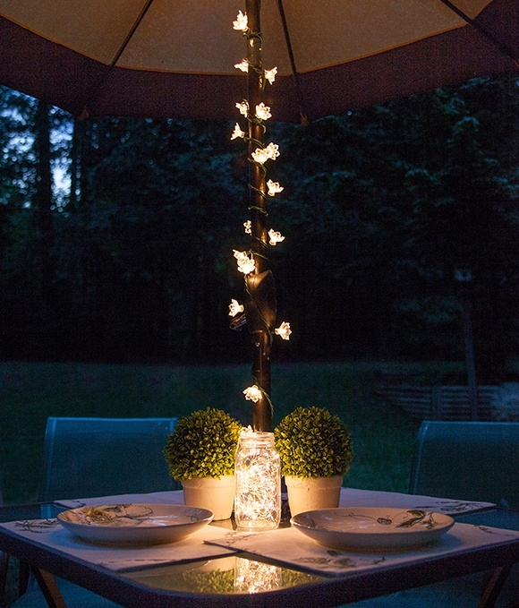 Inspiration about Patio String Lights And Bulbs In Outdoor Umbrella Lanterns (#9 of 15)