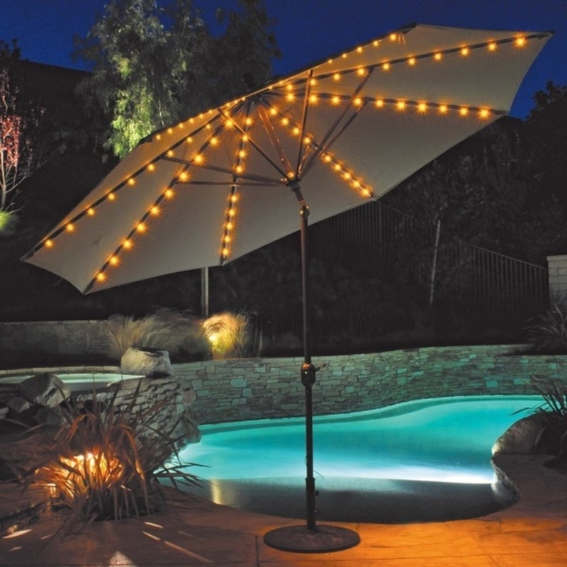 Patio Umbrella With Led Lights In Outdoor Umbrella Lanterns (View 14 of 15)