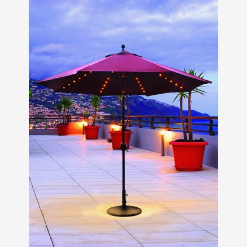 Patio Umbrellas With Led Lights | Secretscanbemurder Pertaining To Outdoor Umbrella Lanterns (View 15 of 15)