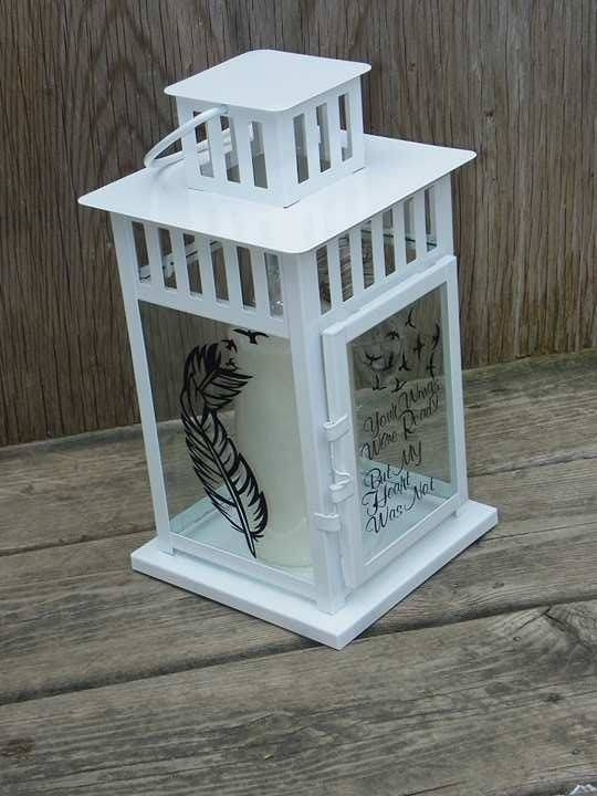 Personalised Memorial Lantern, Memorial Lantern, In Memory Of Pertaining To Outdoor Vinyl Lanterns (View 2 of 15)