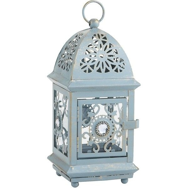 Inspiration about Pier 1 Imports Jeweled Lantern ($6.98) ❤ Liked On Polyvore In Blue Outdoor Lanterns (#11 of 15)