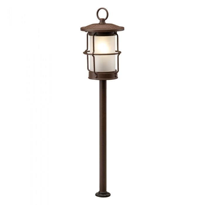 Inspiration about Plug & Play Locos Led Antique Brown Outdoor Garden Lantern Post Regarding Outdoor Lanterns On Post (#11 of 15)