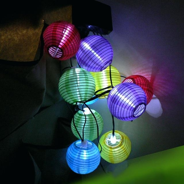 Pod Solar Lantern White Color Led Outdoor Lighting Lights Hanging Pertaining To Outdoor Ball Lanterns (View 12 of 15)