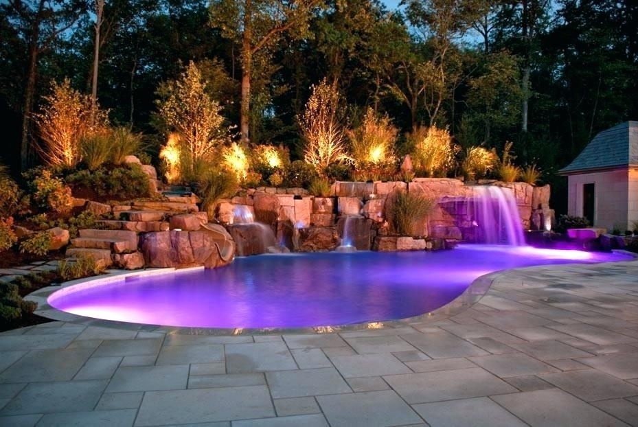 Inspiration about Pool Deck Lighting Ideas Lighted Pool Deck Prestige Pools St Above For Outdoor Lanterns For Poolside (#14 of 15)