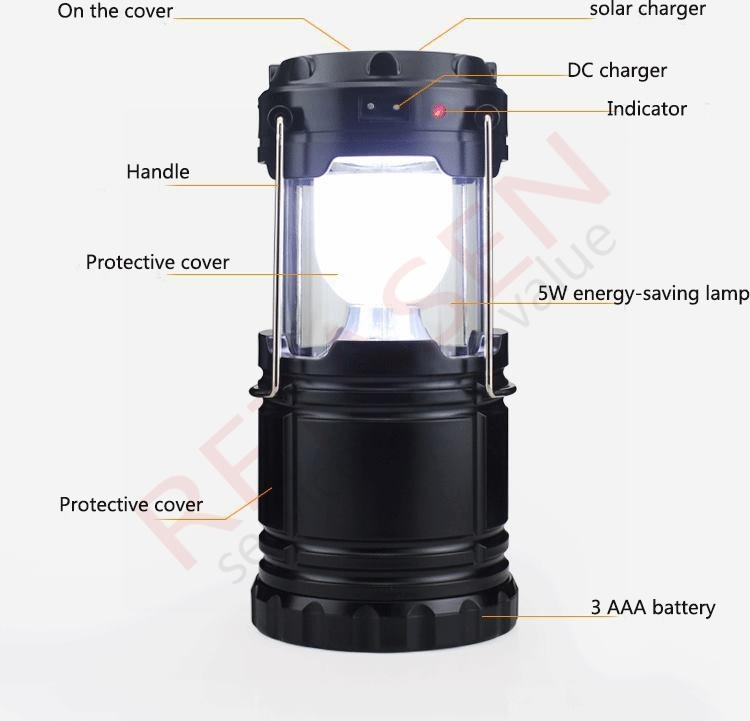 Inspiration about Portable Solar Power Outdoor Camping Led Hiking Lanterns Camping Throughout Outdoor Lanterns With Led Lights (#7 of 15)