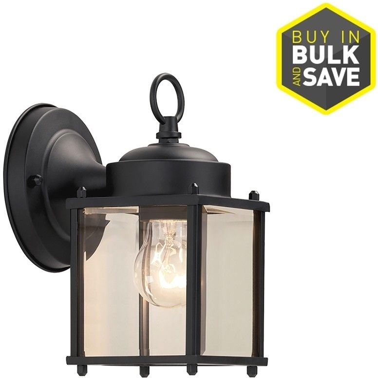 Inspiration about Portfolio 8.25 In H Black Outdoor Wall Light Lantern Weather For Outdoor Weather Resistant Lanterns (#13 of 15)