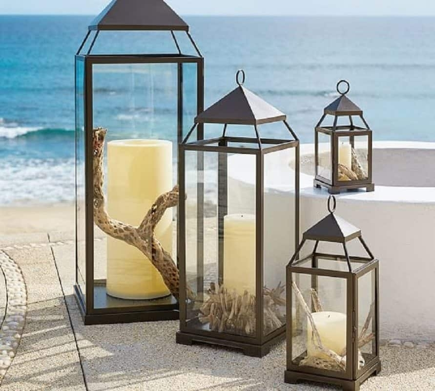 Inspiration about Pottery Barn Patio Furniture Malta Lanterns Bronze Finish : Ornate Throughout Outdoor Lanterns At Pottery Barn (#15 of 15)