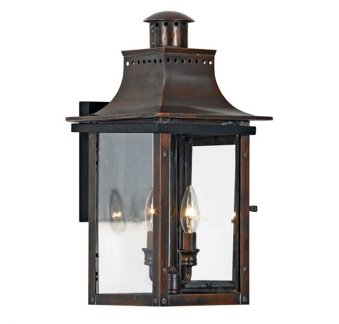 "Quoizel Chalmers 10"" Outdoor Lantern In Copper – Outdoor Wall Lights Pertaining To Quoizel Outdoor Lanterns (View 15 of 15)"