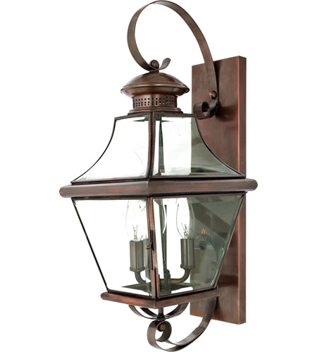 Quoizel Lighting Carleton 3 Light Outdoor Wall Lantern In Aged With Quoizel Outdoor Lanterns (#5 of 15)