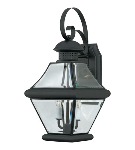 Quoizel Rj8409K Rutledge 2 Light 19 Inch Mystic Black Outdoor Wall With Quoizel Outdoor Lanterns (#14 of 15)