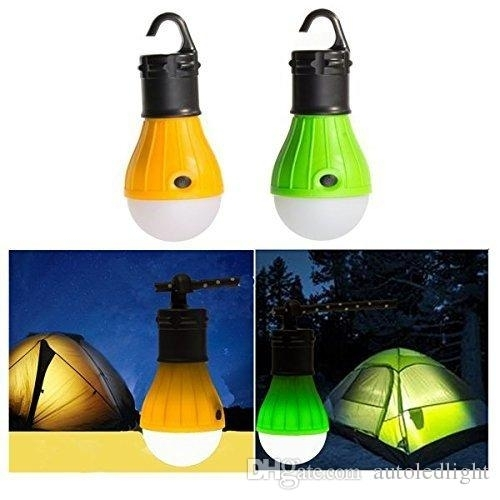 Raking Outdoor Camping Lamp Tent Portable Led Lantern Tent Light For Yellow Outdoor Lanterns (#11 of 15)