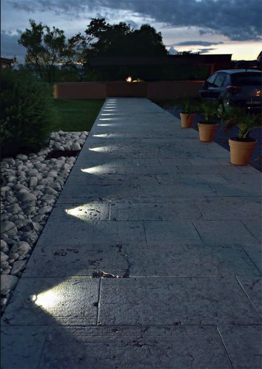 Inspiration about Recessed, In Ground Lighting Suddenly Turns This Pathway Into A With Regard To Outdoor Ground Lanterns (#9 of 15)