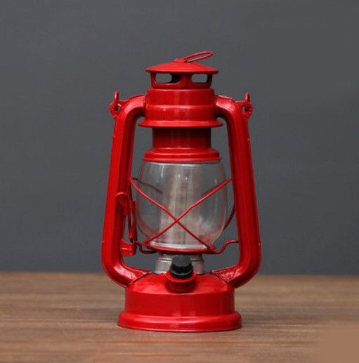Inspiration about Red Battery Powered Kerosene Lamp Bedroom Outdoor Decor Ornament With Regard To Decorative Outdoor Kerosene Lanterns (#11 of 15)